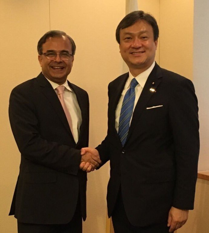 Ambassador called on H.E. Iwao Horii, Parliamentary Vice Minister for Foreign Affairs
