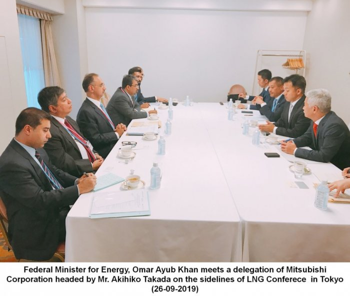 Federal Minister for Energy Omar Ayub Khan meets Delegation of Mitsubishi Corporation